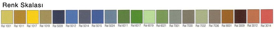 Gürlast KS02 Renk Skalası Kesit